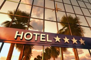Hotel,Sign,With,Stars,,3d,Illustration